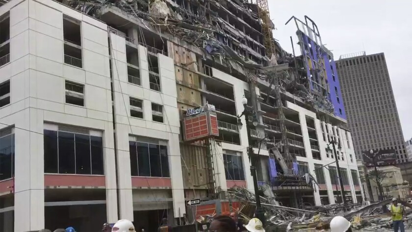 Hotel under construction in New Orleans collapses