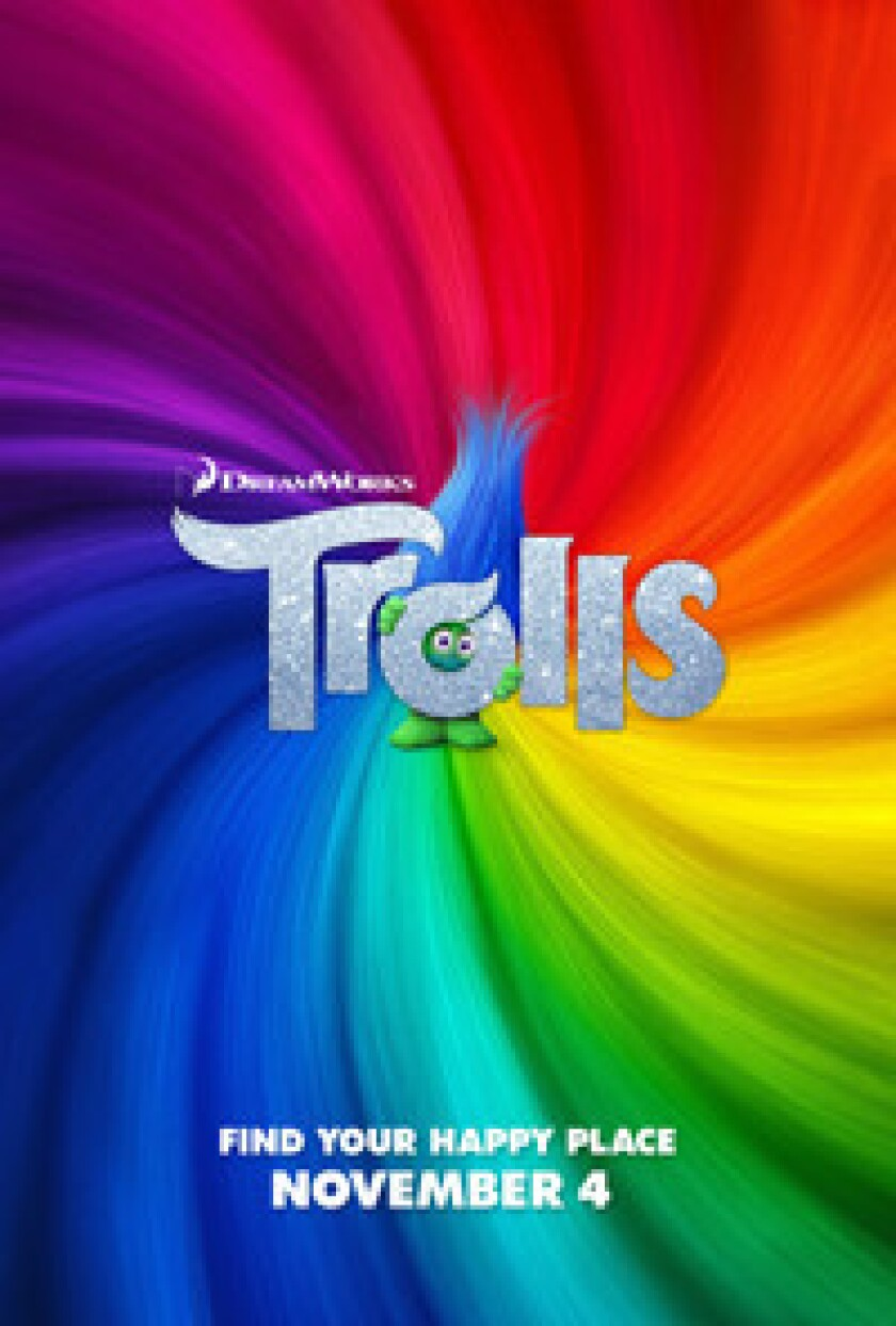 Trolls hits theaters in San Diego on Nov. 4, 2016.