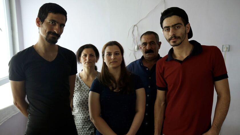 The Moradi family, from left; Servan, Fanoos, Delnia, Seid and Saman.