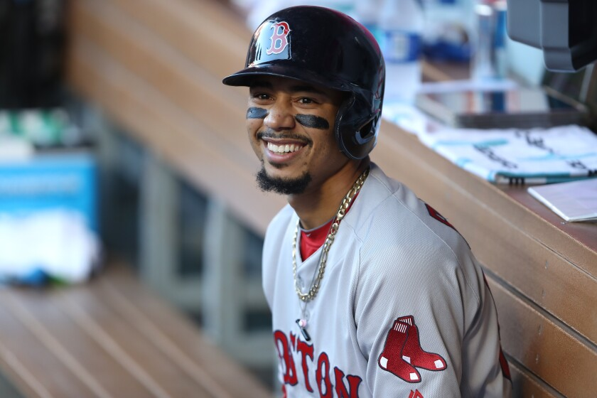 The Dodgers are among the teams in the hunt to trade for Boston Red Sox right fielder Mookie Betts.