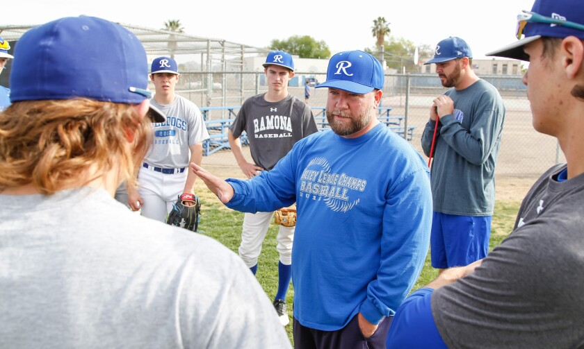 Ramona baseball coach Dean Welch and his team will play a full American Legion schedule, including hosting the Tehama Bulls, a team from Red Bluff.