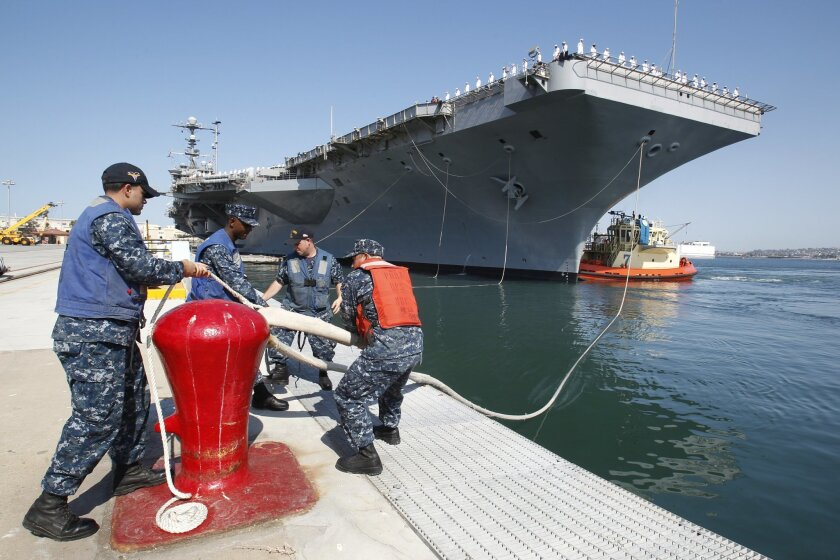 The USS George Washington departed North Island enroute to the east coast as part of a historic three way carrier swap.