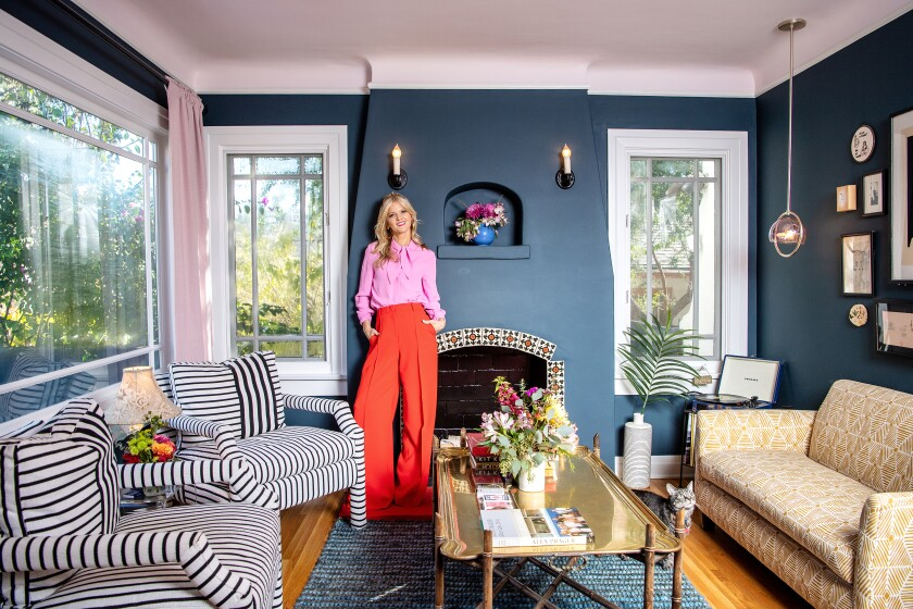 """I've never met a room that doesn't look good in Farrow & Ball Hague Blue,"" says Arden Myrin."