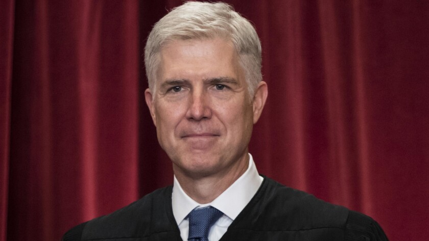 Associate Justice Neil M. Gorsuch at the Supreme Court.