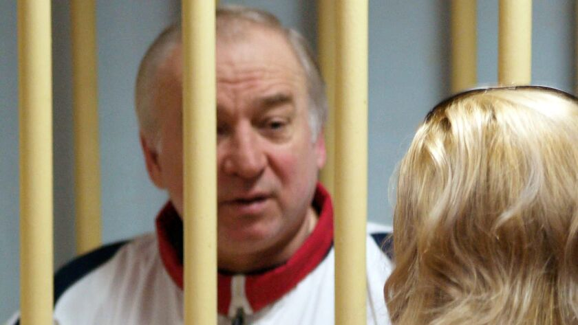 """Former Russian military intelligence colonel Sergei Skripal attends a hearing in Moscow in 2006. Skripal is said to be """"improving rapidly"""" after he and his daughter were poisoned with a rare nerve agent."""
