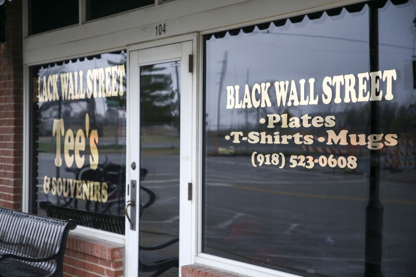 Black Wall Street Tee's  in the Greenwood District in Tulsa, Okla.