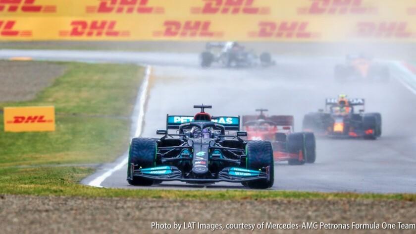 2021 Emilia Romagna F1 Grand Prix in the rain