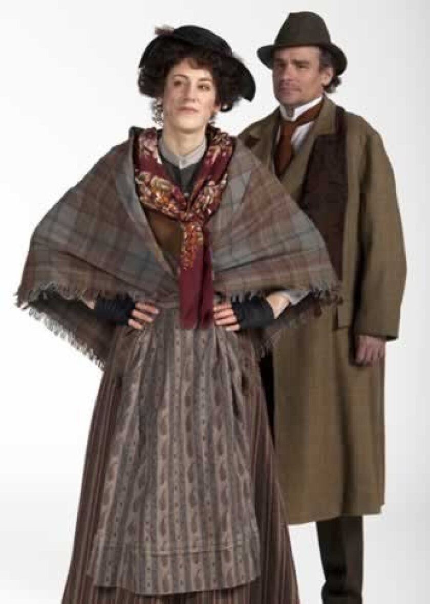 harlotte Parry (Eliza Doolittle) and Robert Sean Leonard (Prof. Henry Higgins) star in The Old Globe's 100th anniversary production of George Bernard Shaw's 'Pygmalion.' Henry DiRocco.
