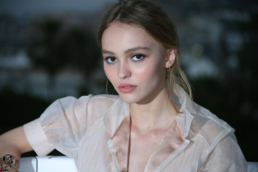 FILE - In this May 14, 2016 file photo, actress Lily-Rose Depp poses during portraits for the film La Danseuse (The Dancer) at the 69th international film festival, Cannes, southern France. Chanel has tapped Johnny Depp's 16-year-old daughter to represent a new perfume, announced on Lily-Rose Depp'