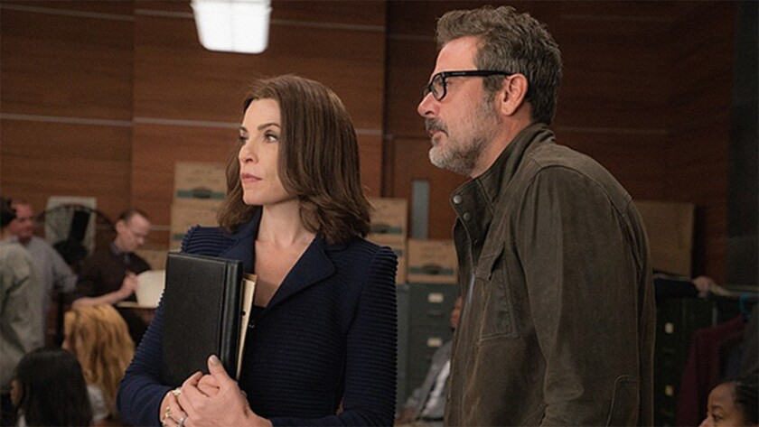 Julianna Margulies and Jeffrey Dean Morgan in 'The Good Wife'