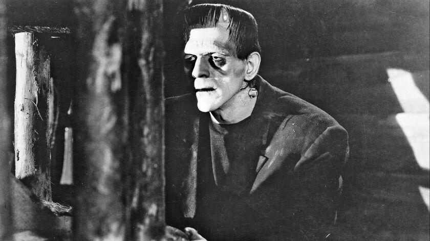 "The monster in the 1931 classic film ""Frankenstein."""