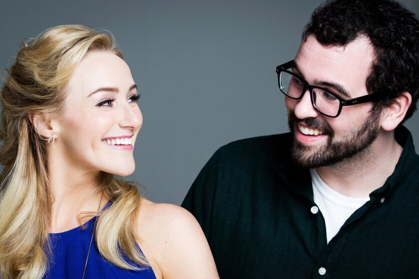 Betsy Wolfe (Lindsay) and Matt Bittner (Dan) share an interesting relationship in 'Up Here,' directed by Alex Timbers at La Jolla Playhouse.