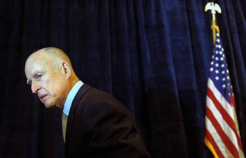 Jerry Brown readjusts his stand on the environment vs. business