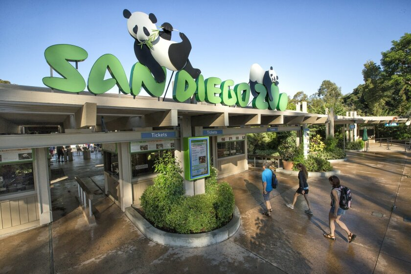 The entrance to San Diego Zoo
