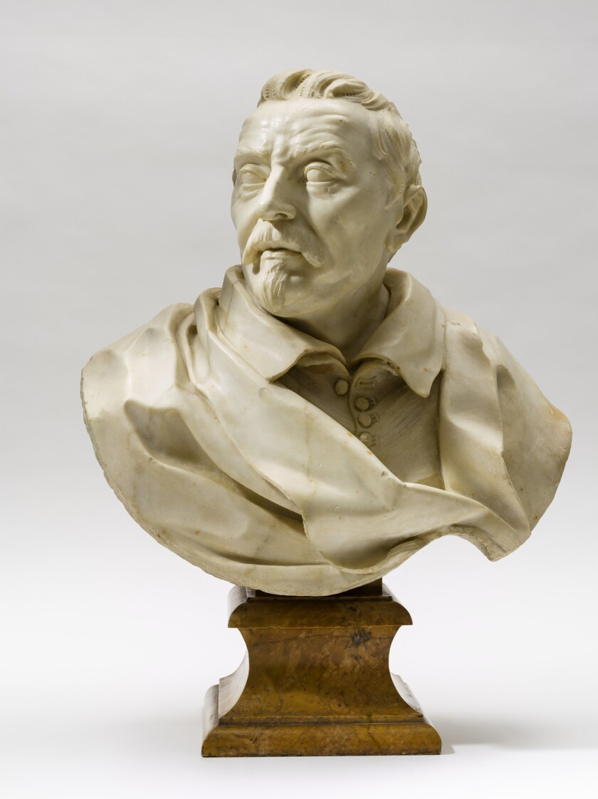 "Gian Lorenzo Bernini, ""Portrait of a Gentleman,"" circa 1670-1675, marble"
