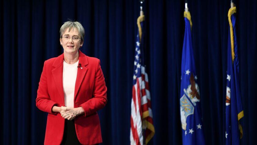 Air Force Secretary Heather Wilson in December.