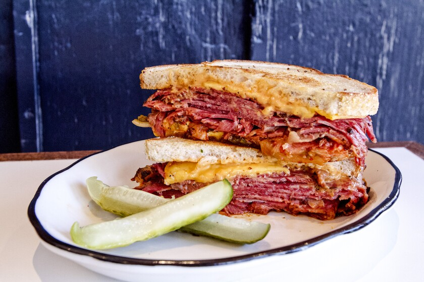 A kimchi reuben sandwich from Wise Sons
