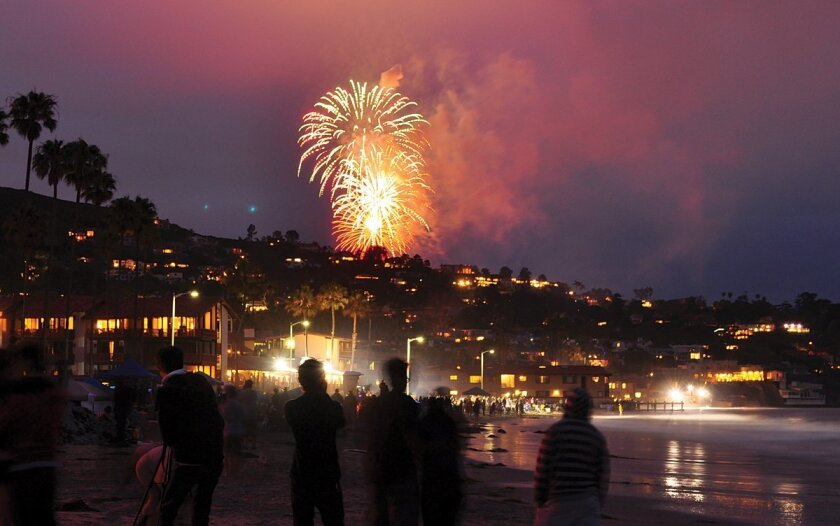 This year's Fourth of July fireworks at La Jolla Cove (in Ellen Browning Scripps Park) begin promptly at 9 p.m.