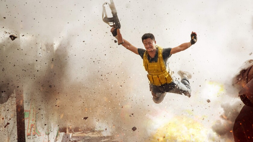 "Jing Wu in the film ""Wolf Warrior 2."" Credit: Well Go USA"