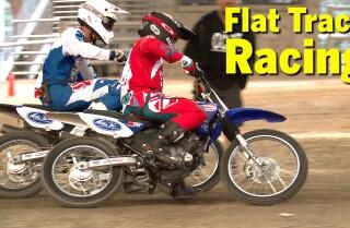 Flat track racing school