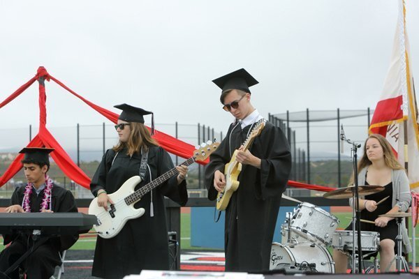 Students perform at the graduation ceremony