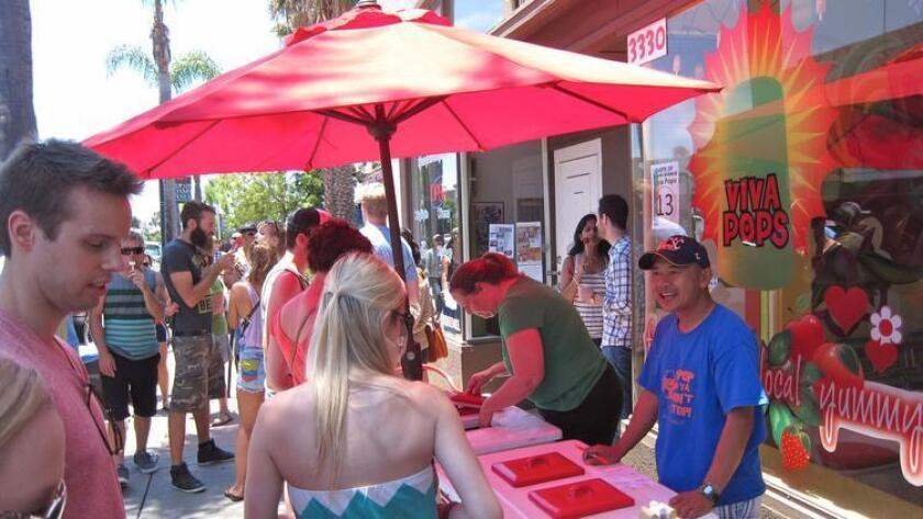 With Sunday's temperatures expected to be in the 80s, colorful, cool and refreshing Viva Pops will likely be a big draw at the Taste of Adams Avenue. (Courtesy photo)