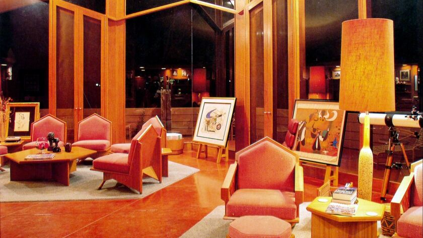 The George and Millie Ablin House in Bakersfield, shown here in 2004, is one of five Frank Lloyd Wright homes that will open to the public for a fundraising tour..