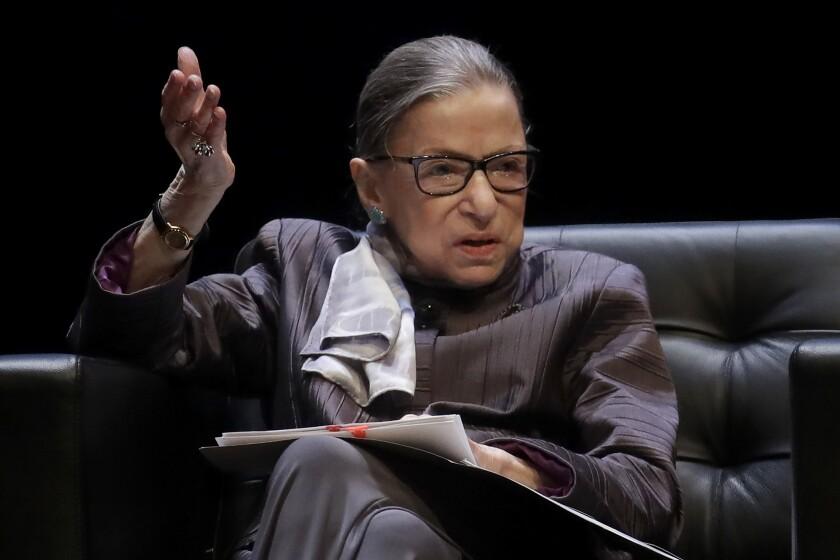 La fallecida ministra de la Corte Suprema de Estados unidos, Ruth Bader Ginsburg