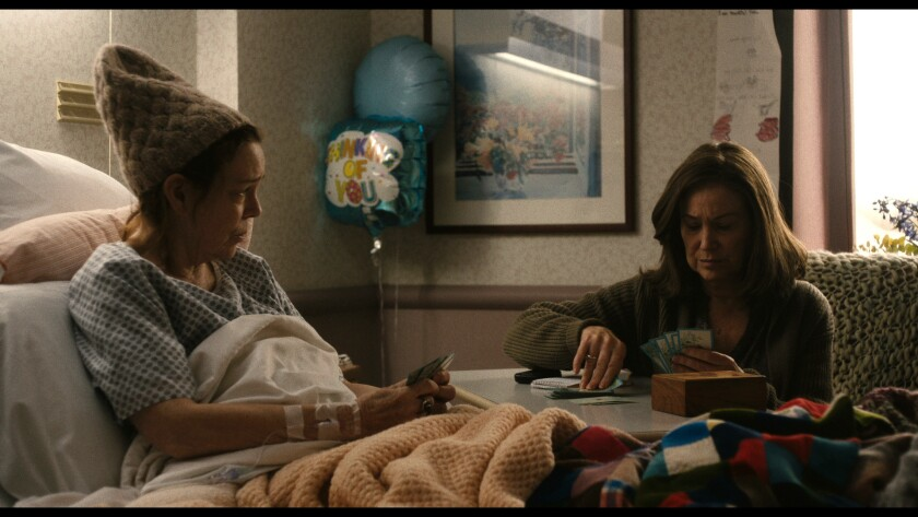 """Deirdre O'Connell, left, and Mary Kay Place in the movie """"Diane."""""""