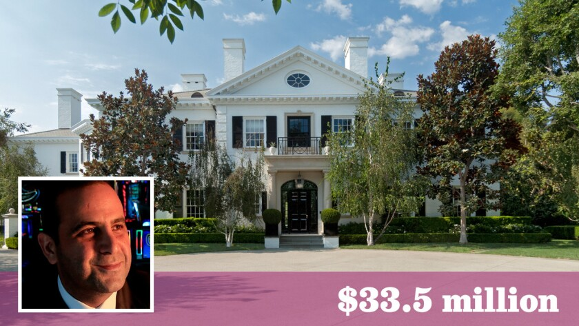 Sam Nazarian bought the Bel-Air estate from Paramount chairman Brad Grey for $25 million and simultaneously listed it for sale at $33.5 million.