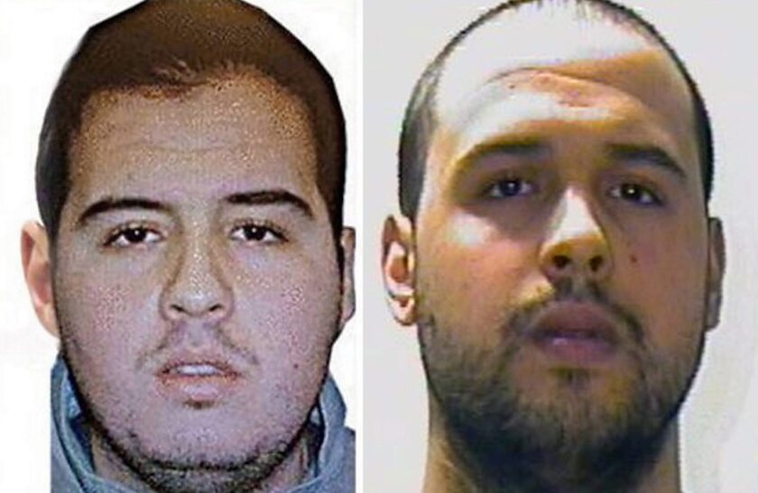 Brothers Brahim, left, and Khalid El Bakraoui, two of the suspects in the Brussels attacks.