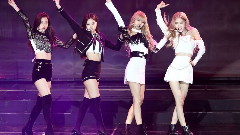 Girl group Blackpink performs on stage during the 8th Gaon Chart K-Pop Awards in Seoul, South Korea.