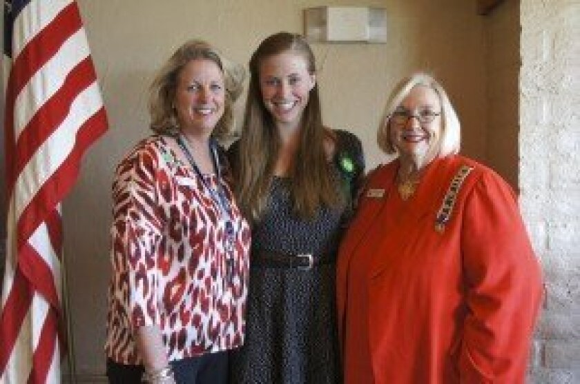 Three generations of Daughters, Betsy Pain, Brittany Pain, and 1st Vice Regent Marti Meiners.