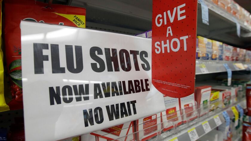 Public health officials in California advise everyone over 6 months of age to get a flu shot as soon as possible.