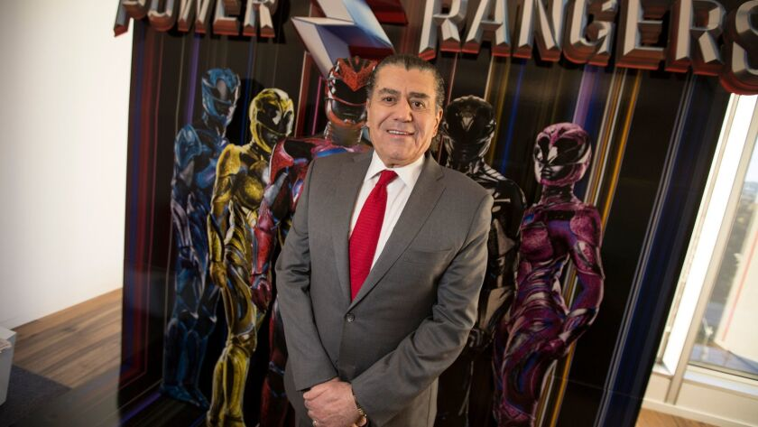 "Los Angeles billionaire Haim Saban created one of the biggest television hits of the 1990s: ""Mighty Morphin Power Rangers."" His ""Power Rangers"" movie hits theaters March 24."