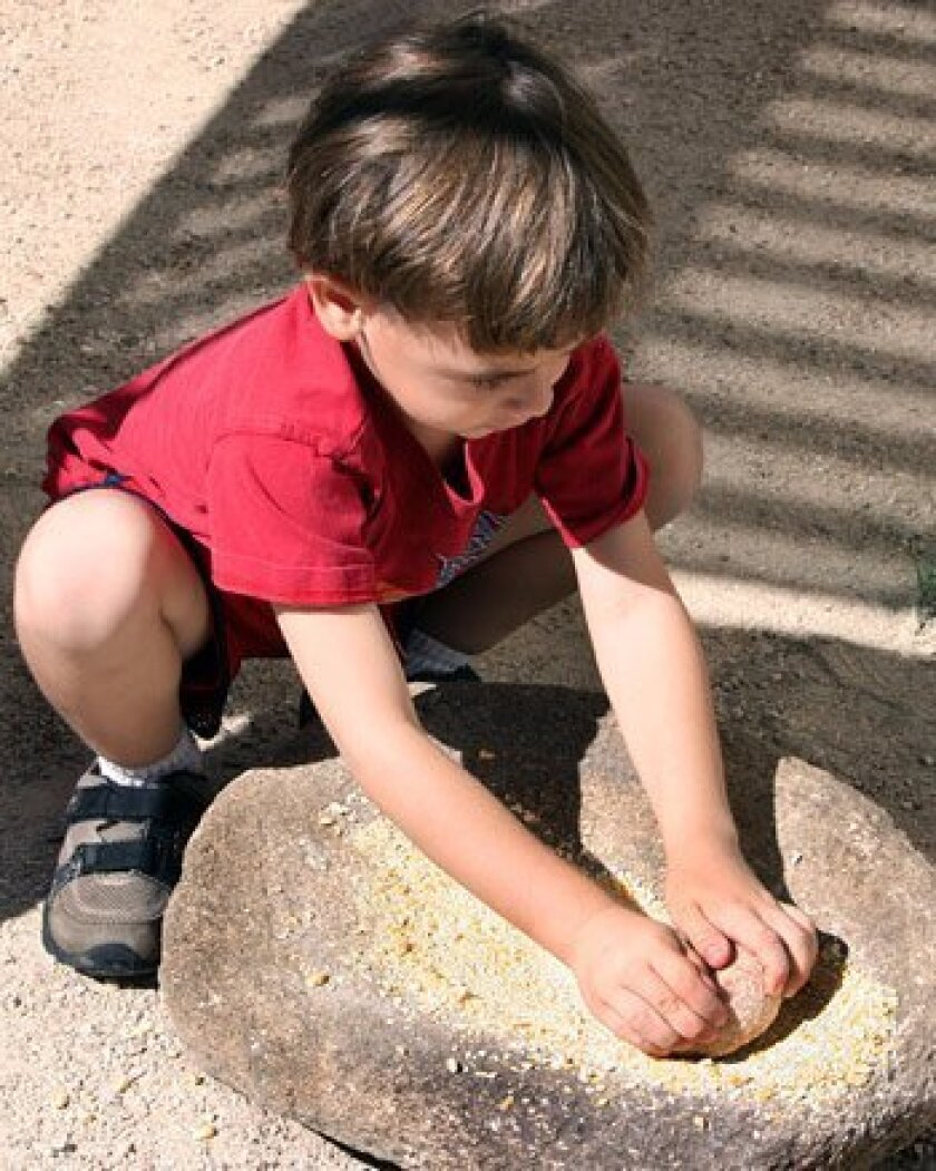 Children can explore hands-on activities during Science Saturdays. (Western Center for Archaeology & Paleontology)