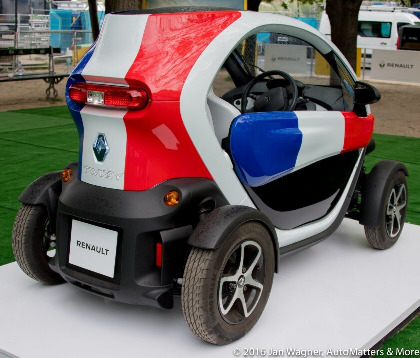 Twizy electric city car in the Renault exhibit