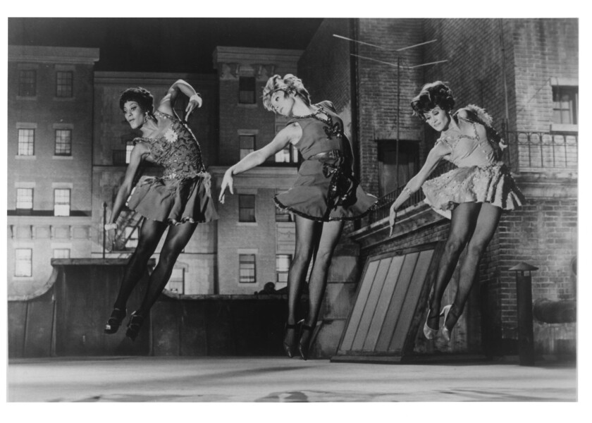 """Paula Kelly, left, Shirley MacLaine and Chita Rivera in a scene from """"Sweet Charity."""""""