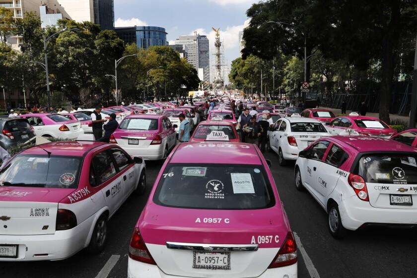Mexico Taxi Protest