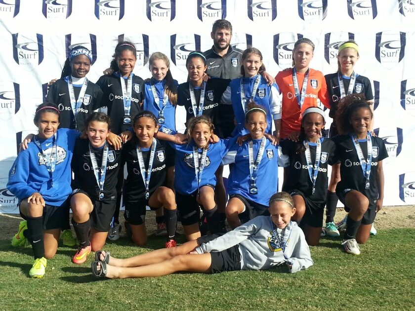 Surf EGSL GU12 played in the finals at the Surf Thanksgiving Cup recently.