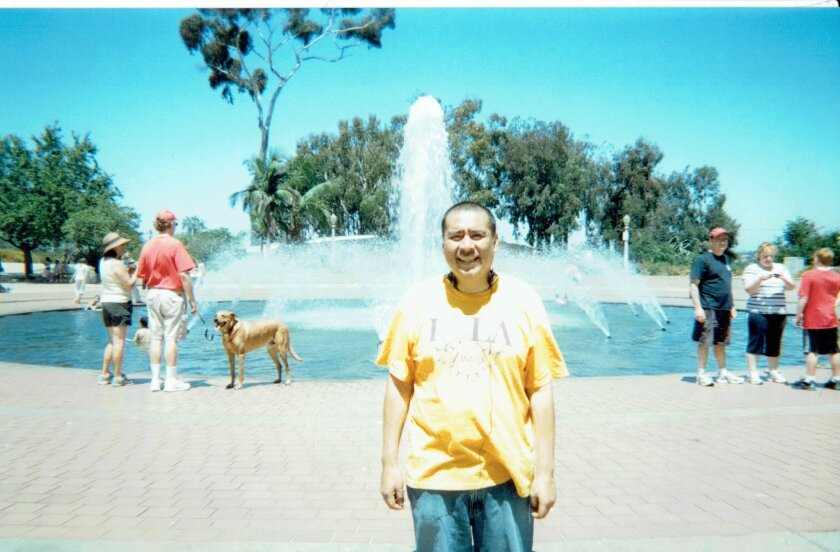 Family photo at Balboa Park of Ruben Nunez, who died in August 2015 at the San Diego Central Jail of a psychiatric condition known as psychogenic water intoxication.