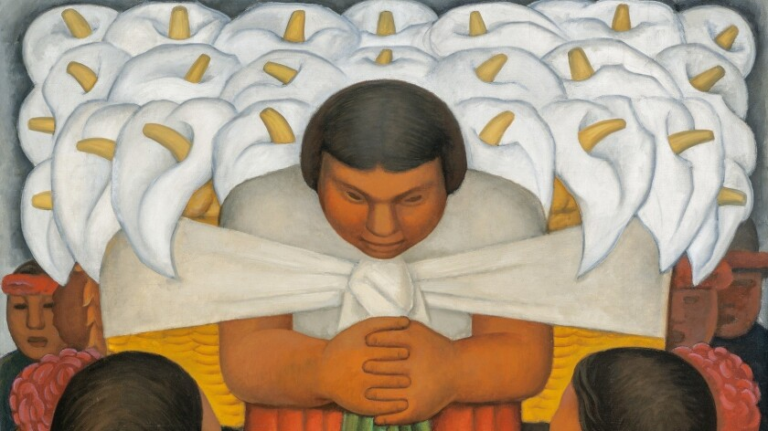 "A detail of Diego Rivera's ""Flower Day,"" 1925."