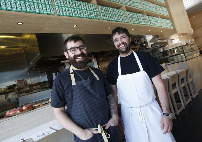 Chefs Vinny Dotolo, left, and Jon Shook
