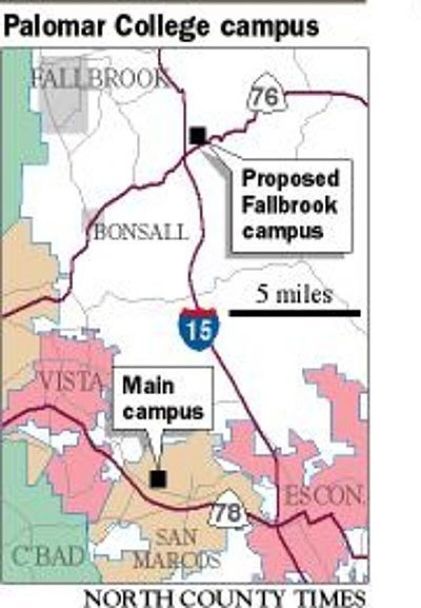 Palomar College in escrow for Fallbrook campus\' property ...