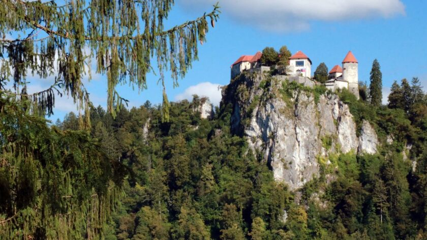 Bled Castle sits high above Lake Bled, providing great views of the lake and surrounding countryside.