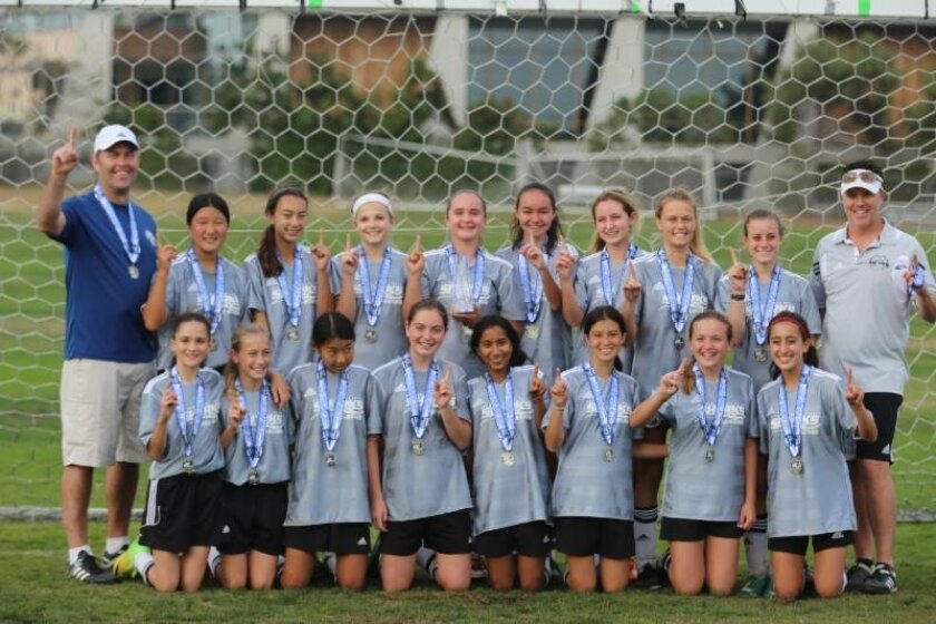 Congratulations to the Del Mar/Carmel Valley Sharks Girls U14 team for winning the La Jolla All Stars Tournament recently.
