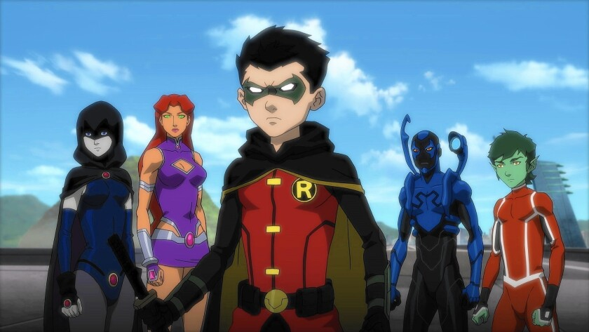 'Justice League vs. Teen Titans' packs in more fun than that other 'versus' movie