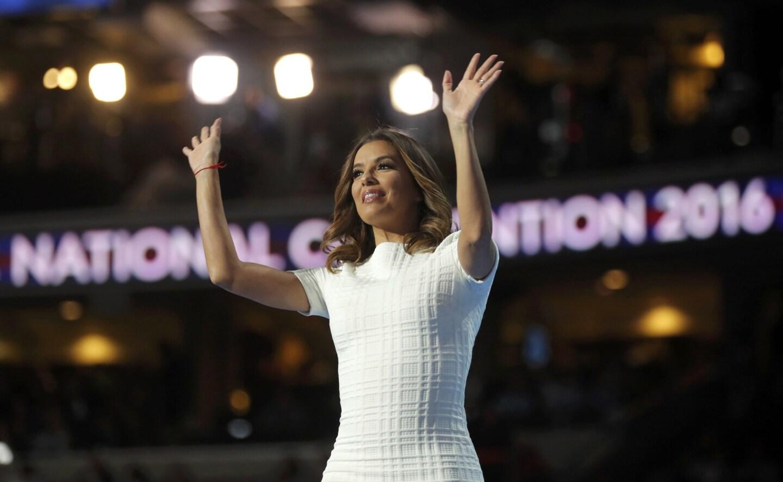 Actress Eva Longoria arrives onstage to speak at the Democratic National Convention in Philadelphia, Pennsylvania, U.S., July 25, 2016.