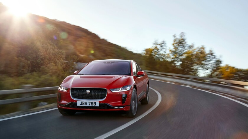MAR. 1, 2018 - Jaguar officially unveiled the I-Pace, an all-electric luxury crossover that goes up