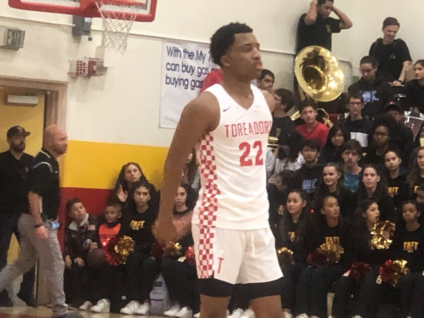 Sophomore Ramel Lloyd could be Taft's next top guard prospect. He scored 30 points on Friday night in the Toreadors' 69-50 win over El Camino Real.